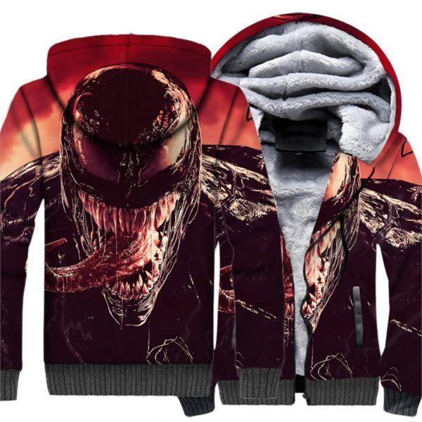 4ff3c0f18cf Hot Sale Sweatshirt Male 2019 Hooded Hoody Autumn Winter Thick Hoodies Men  Hip Hop 3D VENOM
