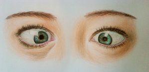 Crossed eyes drawing — 2