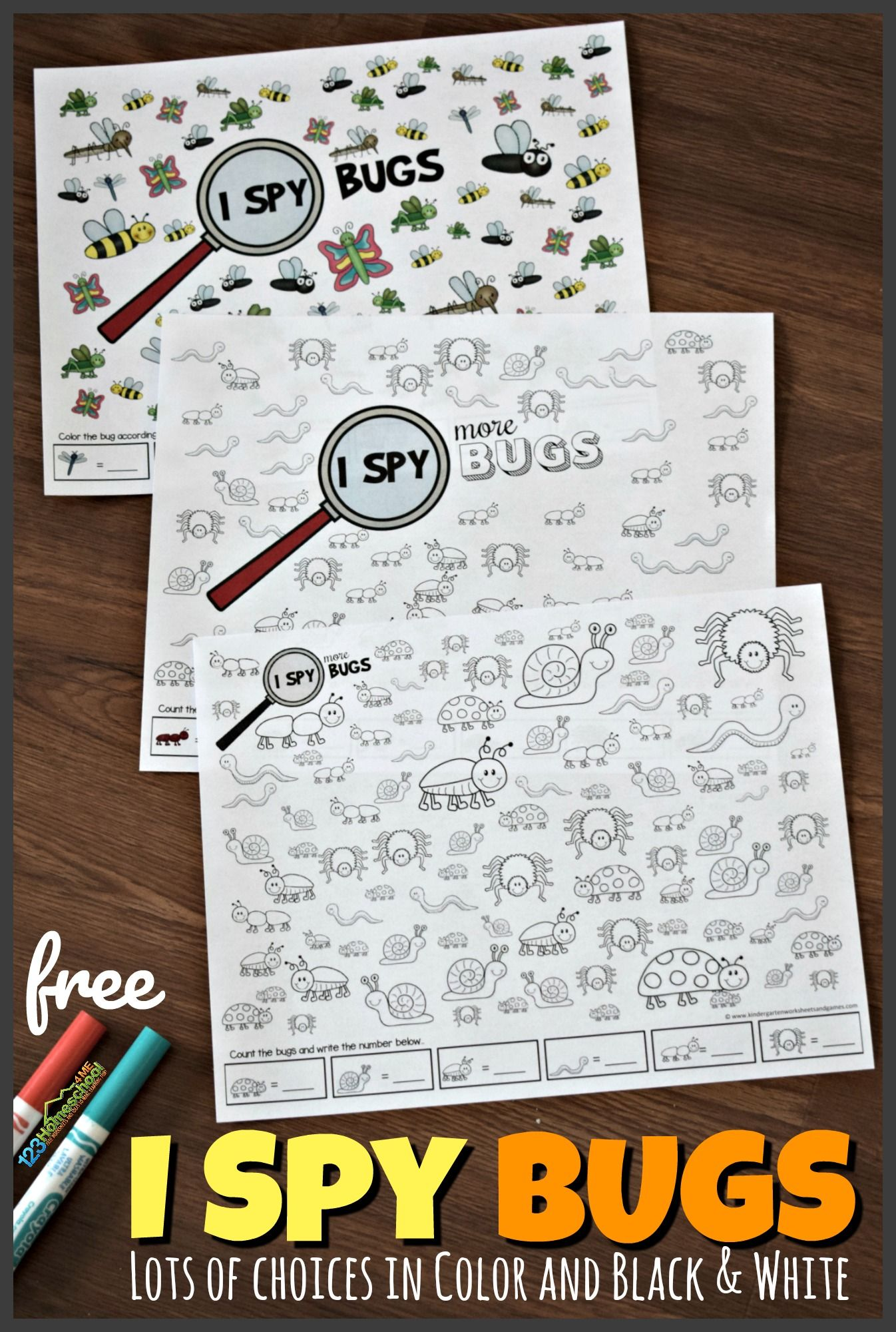 Free I Spy Bugs Kindergarten Worksheets And Games