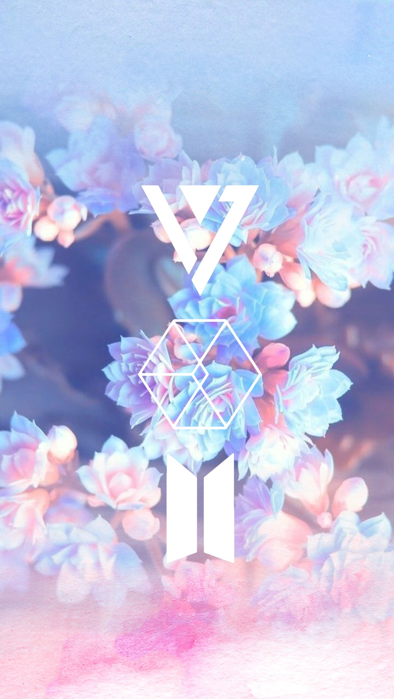 Carat Exo L Army Wallpaper Tupai Kpop Exo and bts logo wallpaper