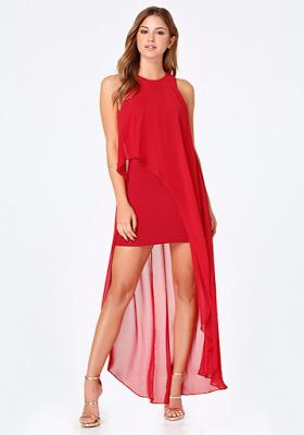 Vestidos de fiesta de dia rojos