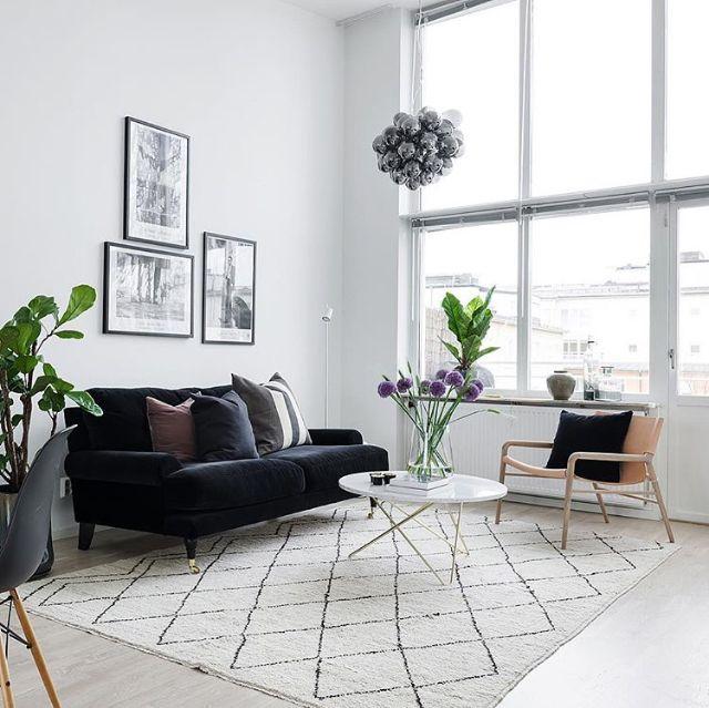 Light Filled Contemporary Living Rooms: A Light-filled Living Room Via @eklundstockholmnewyork