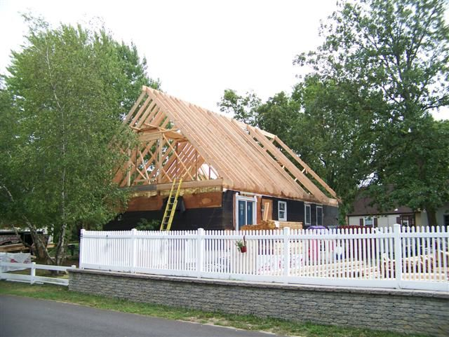 Turning A Ranch Style House Into A Cape Cod Style Sort Of Our Latest Job Do It Yourself Ranch Style Homes Ranch Style Architectural Details Exterior
