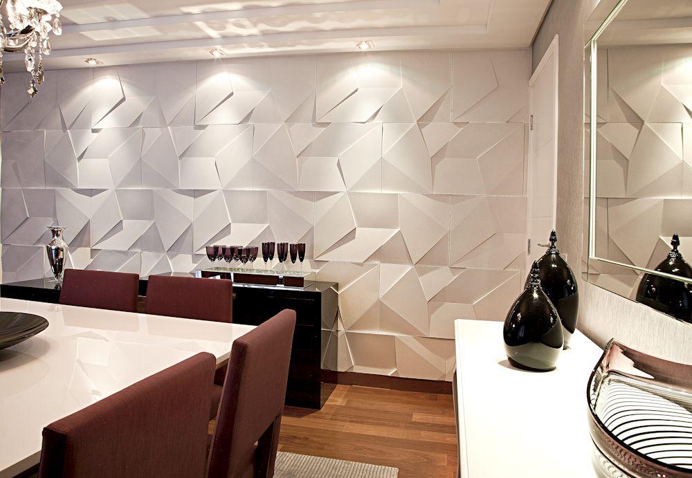 Castellato scaleno duvar pinterest revestimento for Revestimento 3d sala de estar