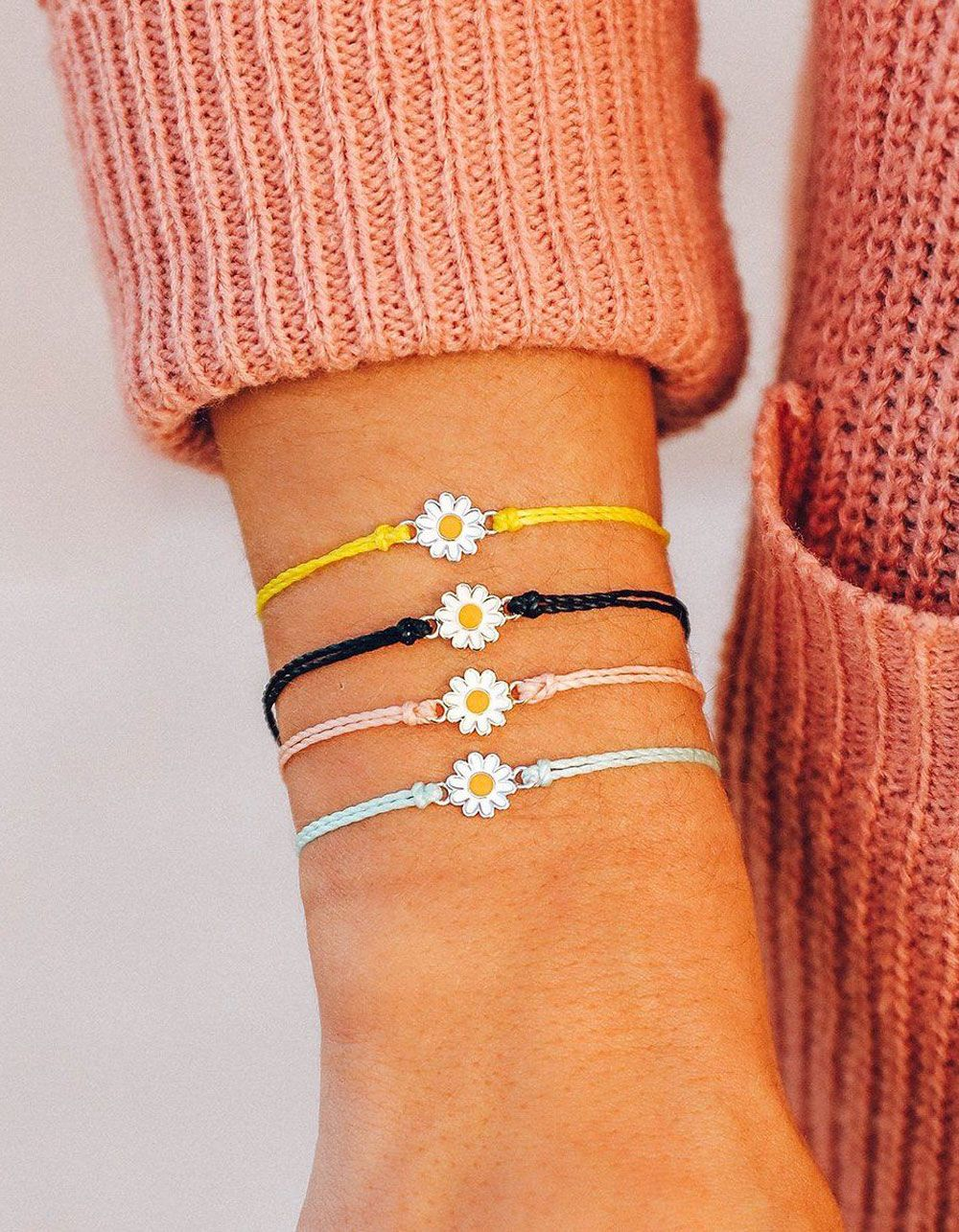 The Adjustable Band Bangle Bracelet featuring the Yellow Daisy