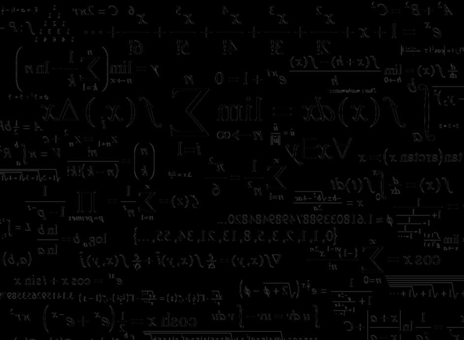 Black Chalkboard Mathematics Formula Background Hdwallpaperspop
