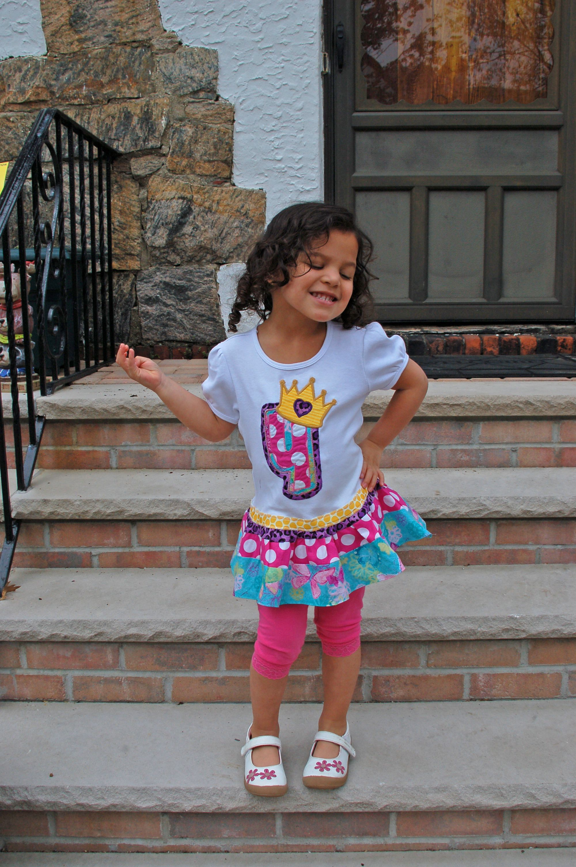 perfect birthday dress for such an adorable little girl!!