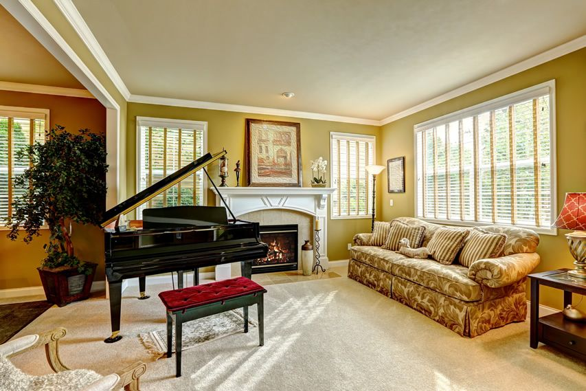 marvellous grand living room fireplace | 45 Beautiful Living Room Decorating Ideas (Pictures ...
