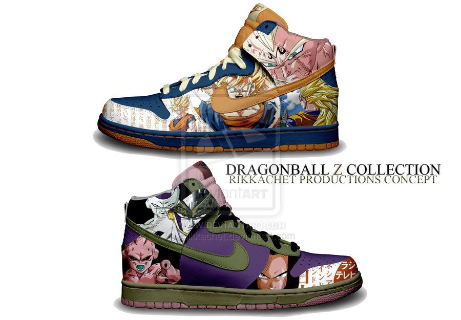 dragon ball z shoes | Dragonball Z Shoe Concept by ~Rikkachet on deviantART