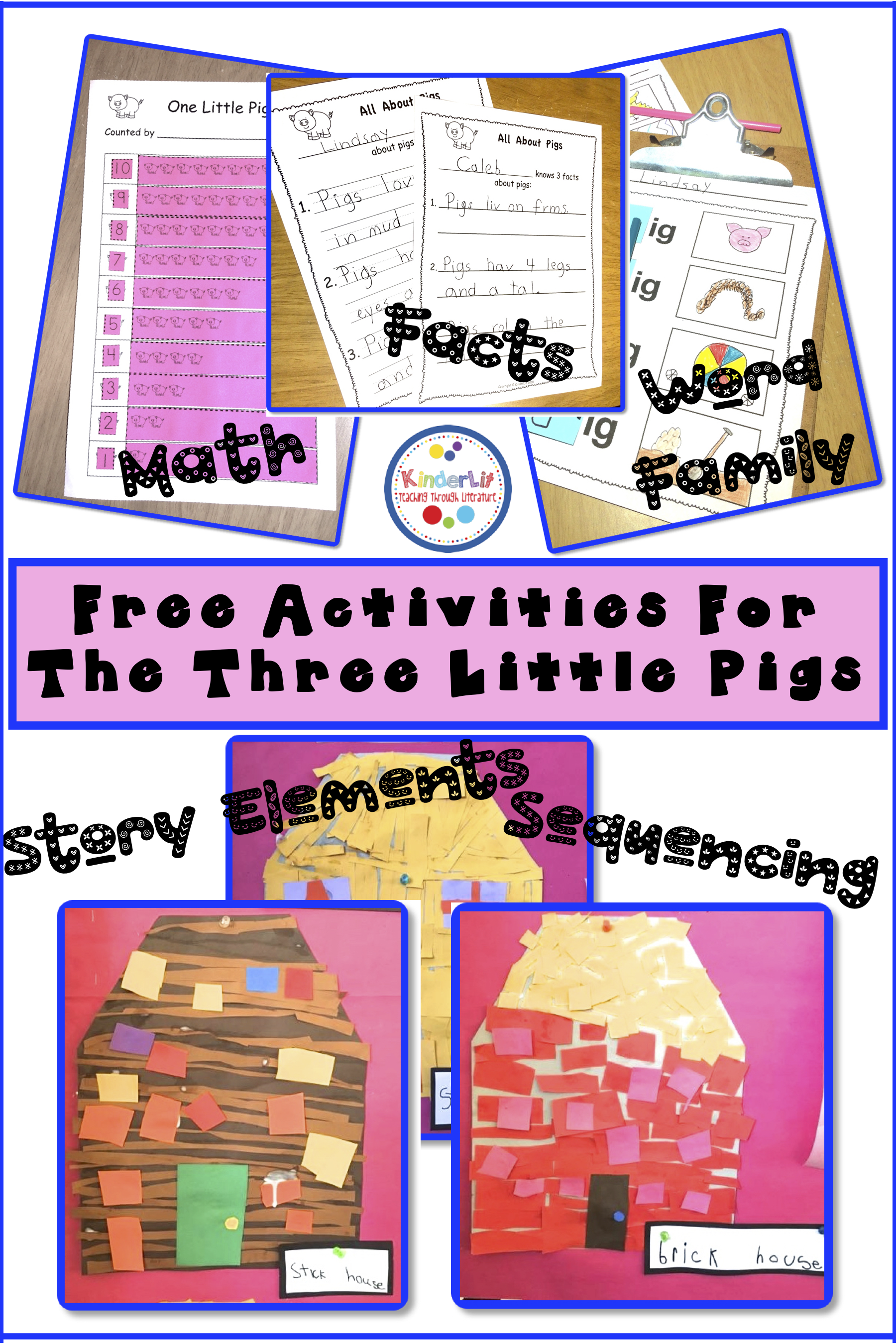 Activities For The Three Little Pigs With Freebies