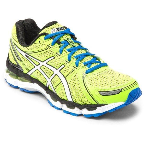 Asics Gel Kayano 19 Mens Running Shoes Lime Green Blue Black