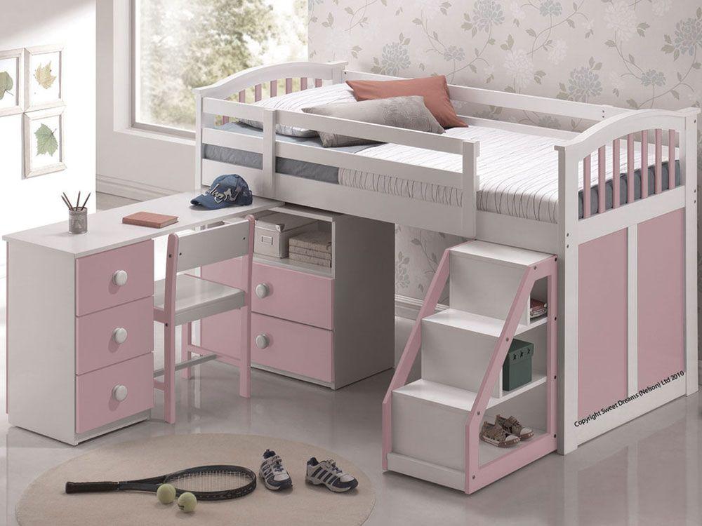 d63f41433b0c Sweet Dreams Kipling Mid Sleeper - Pink £529.00 Box Room Beds, Mid Sleeper  Bed