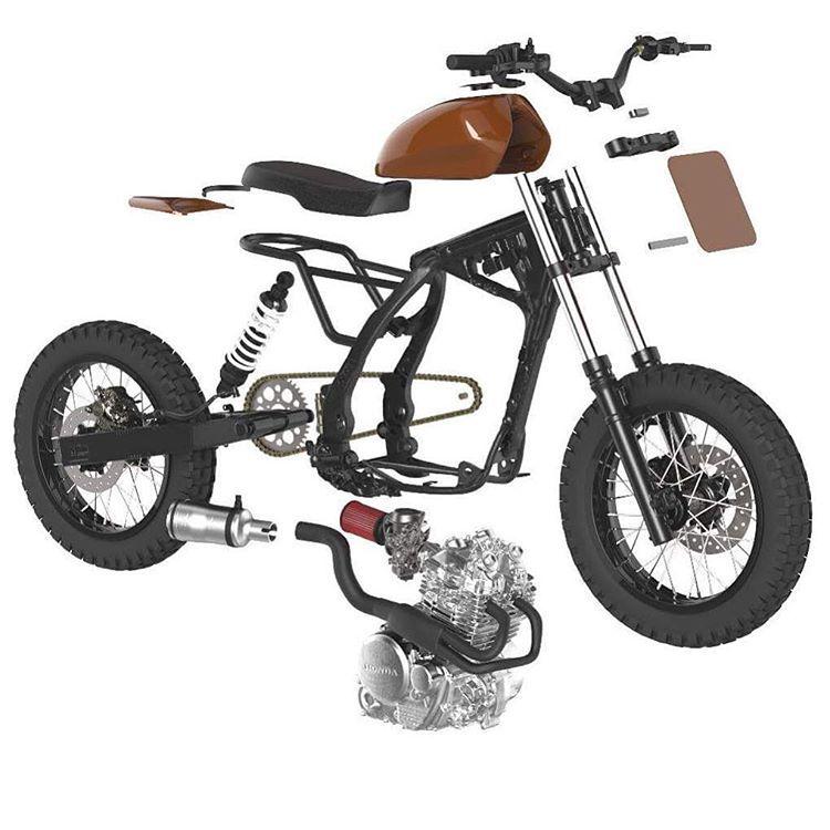 pin  sheng wooooo  tracker tracker motorcycle scrambler motorcycle moto bike