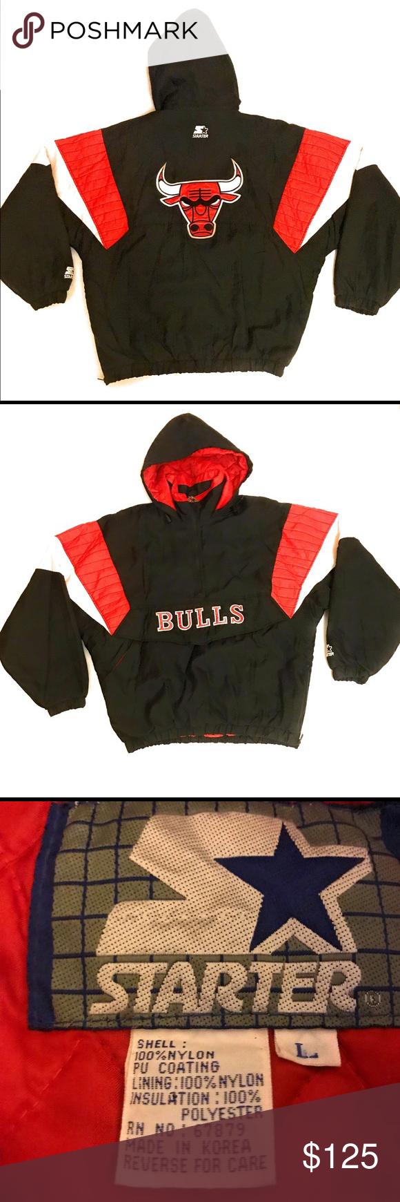 Vintage 90s Starter Chicago Bulls Puffer Jacket Puffer Jackets Mens Jackets Jackets