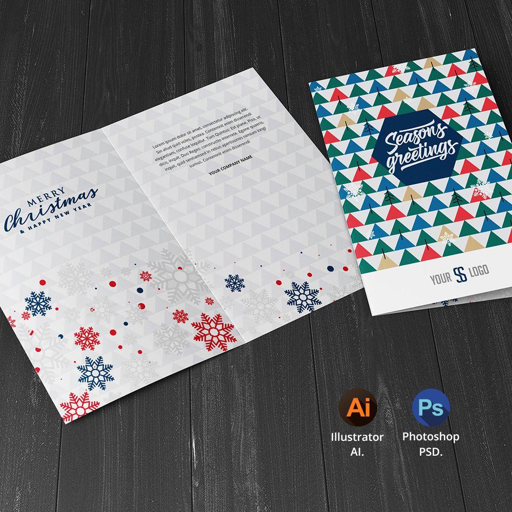 Season S Greetings Card Template Seasons Greetings Card Greeting Card Template Holiday Season Cards
