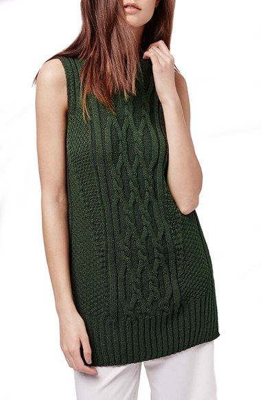 Topshop Cable Knit Sleeveless Sweater Pinterest Cable