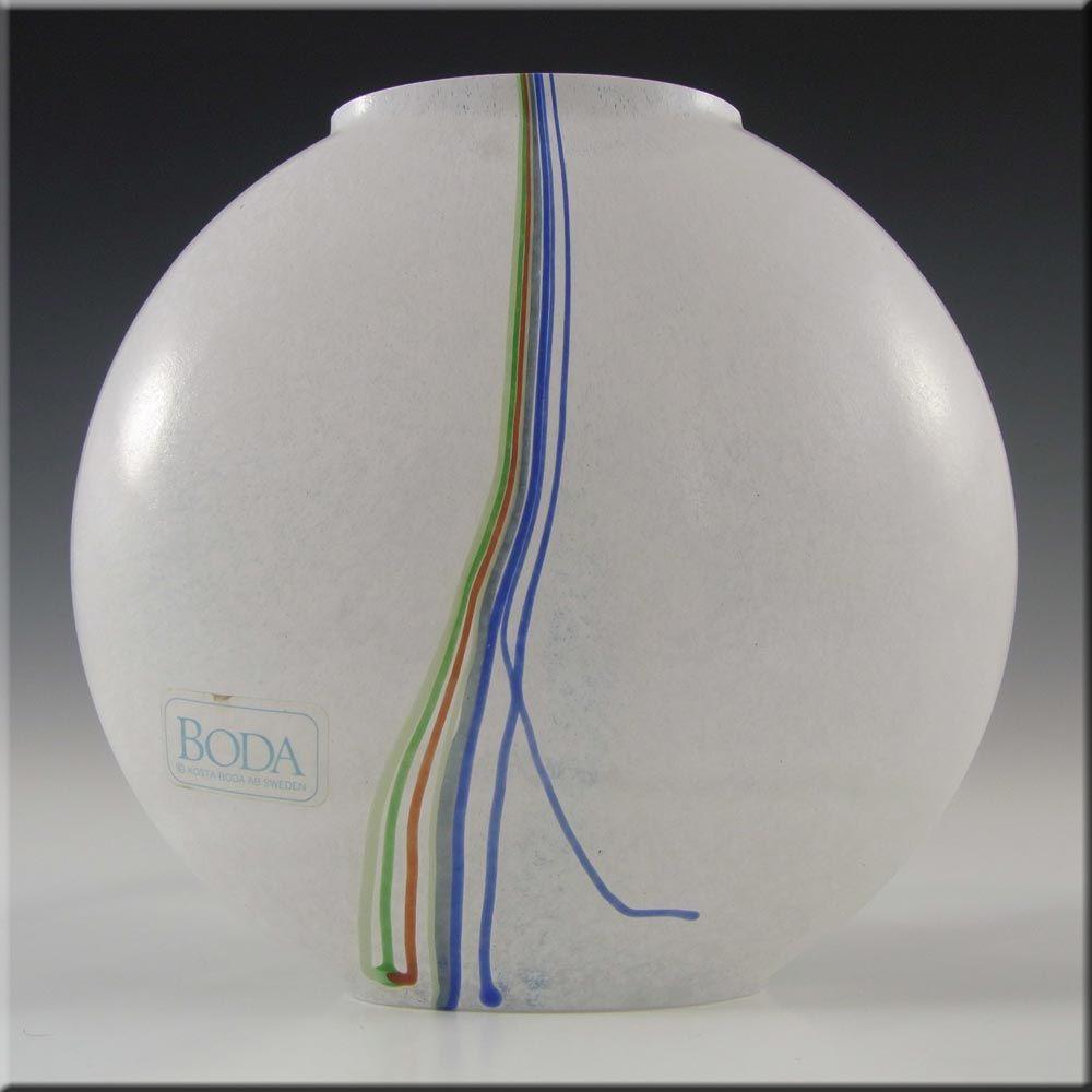 Kosta Boda Glass 'Rainbow' Vase - Signed Bertil Vallien ...