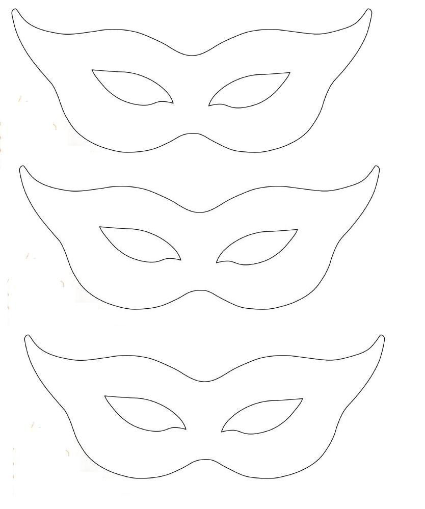Free printable cat eye half mask template collage for Caterpillar mask template