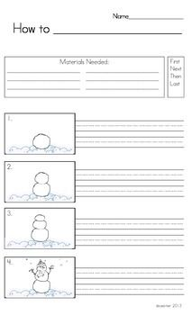 How To Writing  Procedural Writing Template And Literacy