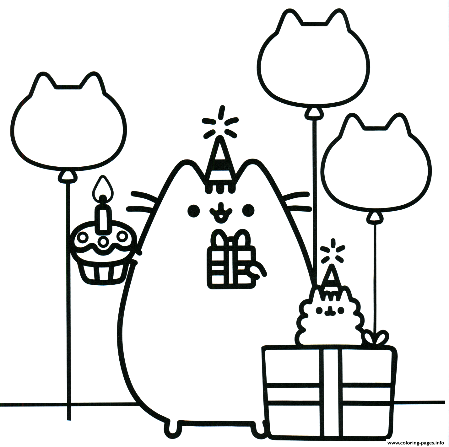 Pusheen Coloring Pages Unicorn Coloring Pages Cartoon Coloring