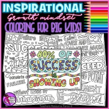 Growth Mindset Coloring Pages Sheets Inspirational Quotes About Success