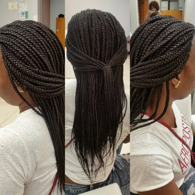 Medium Single Braids | Twists an braids in 2019 | Hair ...