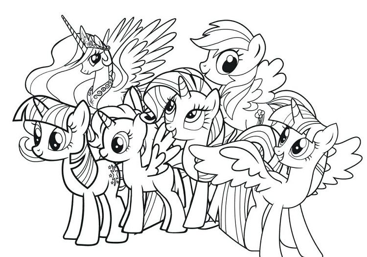 My Little Pony Coloring Pages Full Size My Little Pony Coloring