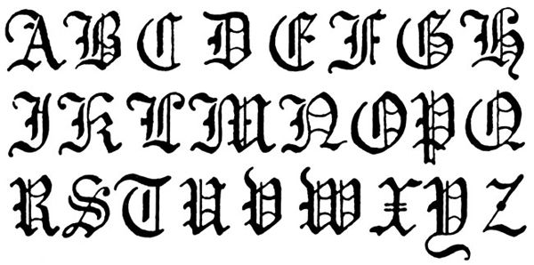 Gothic Lettering Typography Journals Gothic
