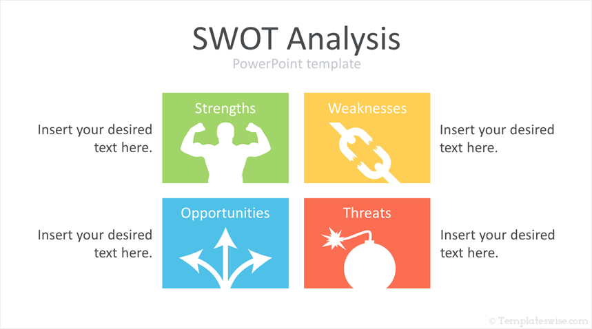 SWOT Analysis PowerPoint Template | Swot analysis, Swot ...