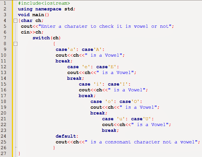 Pin by batool on c++ language | Switch statement, Sample