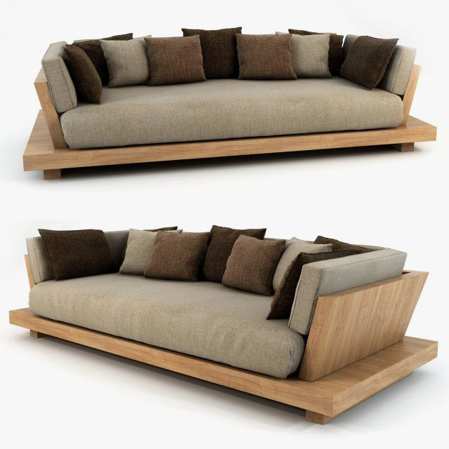 Bonetti kozerski lounge sofa 3d model max c4d obj for Muebles de oficina 3d model