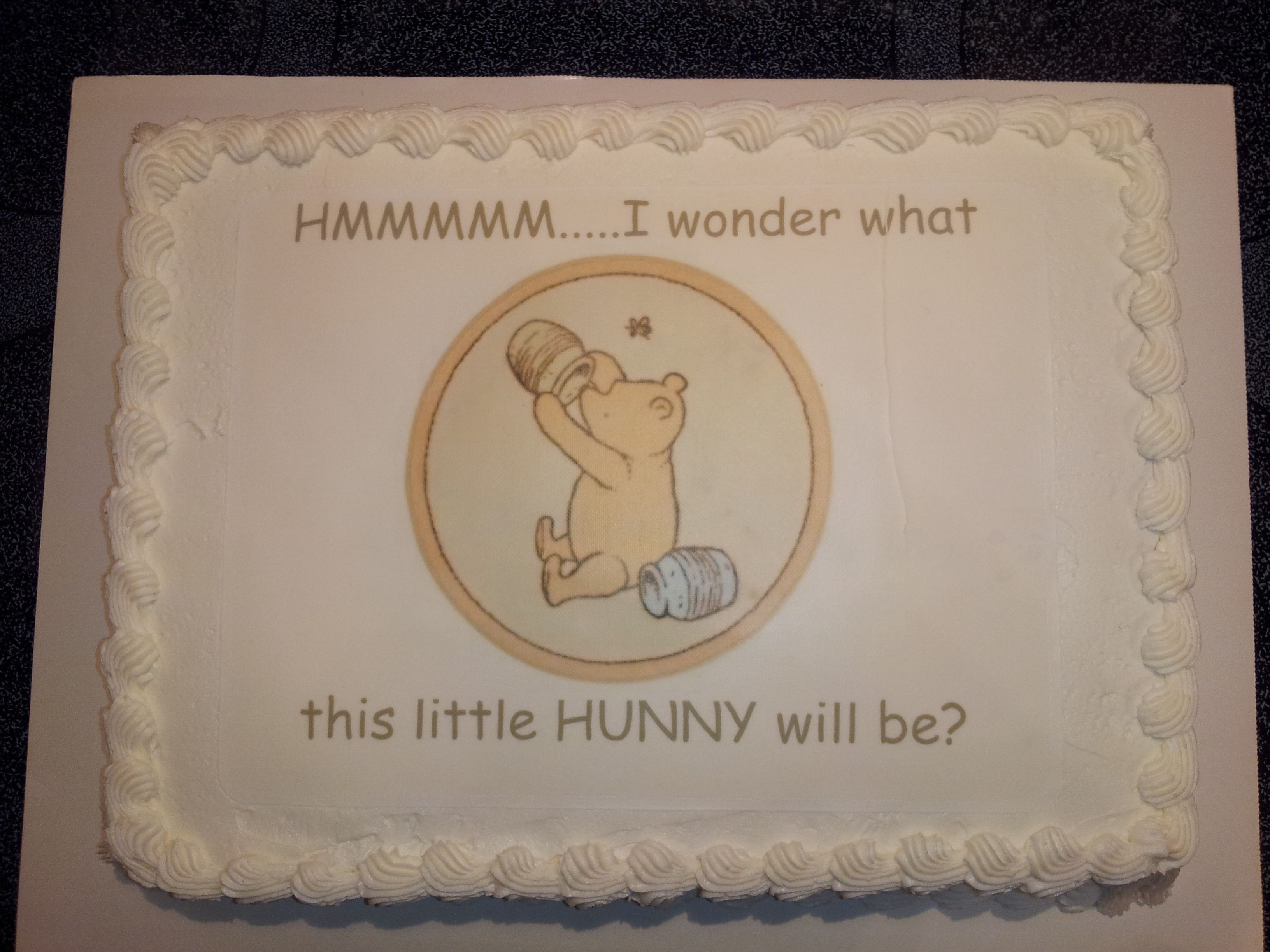 Winnie The Pooh Baby Shower Cakes Cake for baby shower – Winnie the Pooh Birth Announcements
