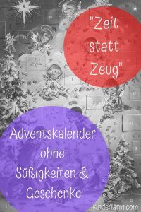 Zeit statt Zeug #adventkalenderbasteln
