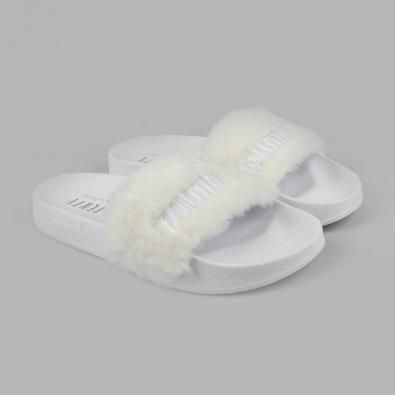 6a74d4287 Chinelo Puma x Rihanna Fur Slide Branco | broke with expensive taste ...