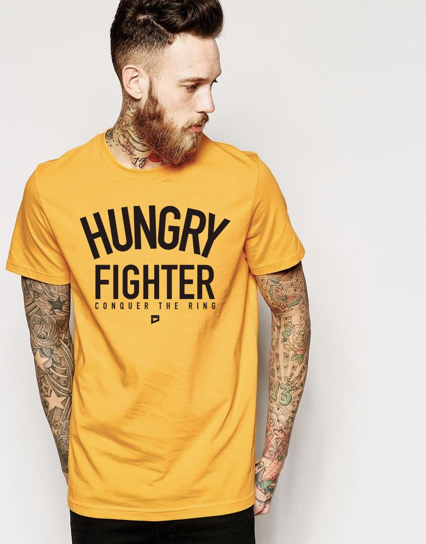 Hungry fighter conquer the ring tshirt fight wear
