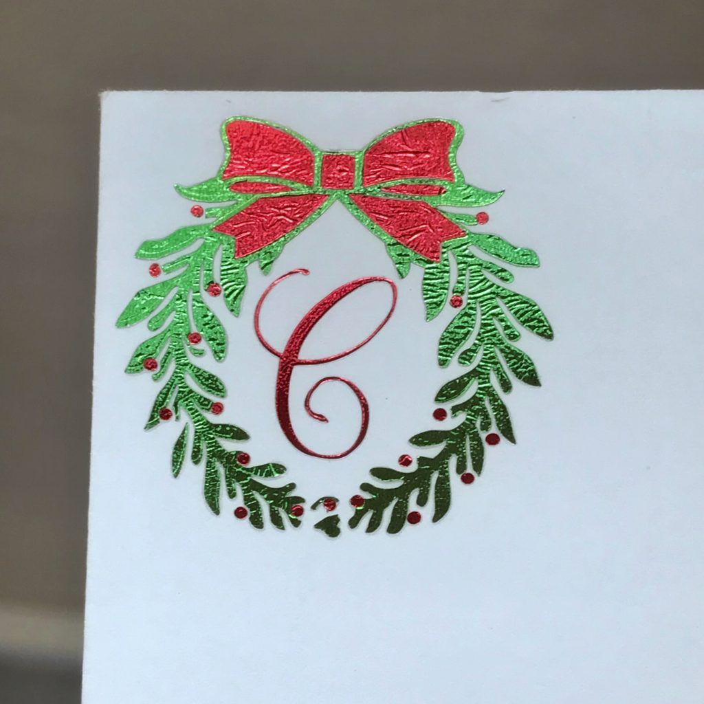 Customized christmas card envelope with cricut foil iron
