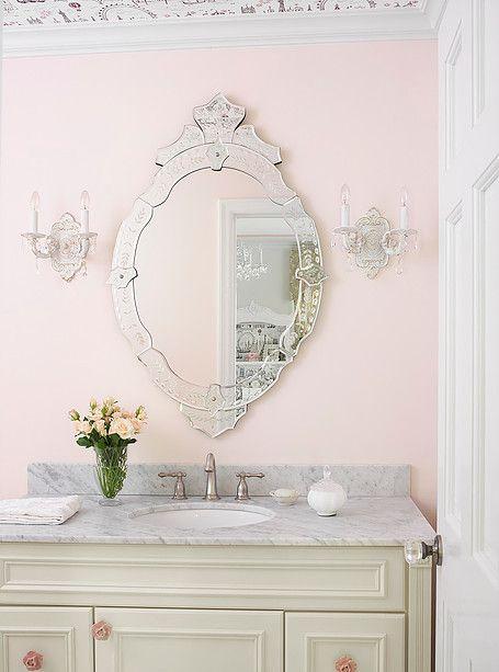 Powder Room By Amy Kartheiser Design: Amy Studebaker Design, Interior Design, St. Louis