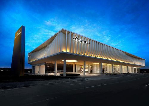 Lexus manila facade vehicle showroom pinterest for Car showroom exterior design