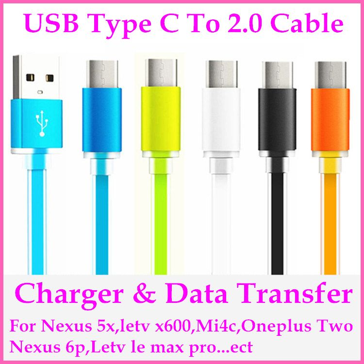 USB Type-C to 2.0 Data Sync Charging Cable for Nokia N1/Letv One/Pro/Xiaomi Mi4c/Nexus 5X 6P Charger
