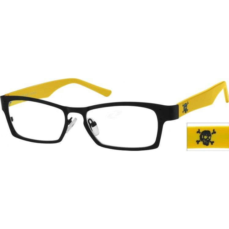 Yellow Stainless Steel Full Rim Frame With Acetate Temples #751122 | Zenni  Optical Eyeglasses | Pinterest | Temple, Stainless Steel And Steel