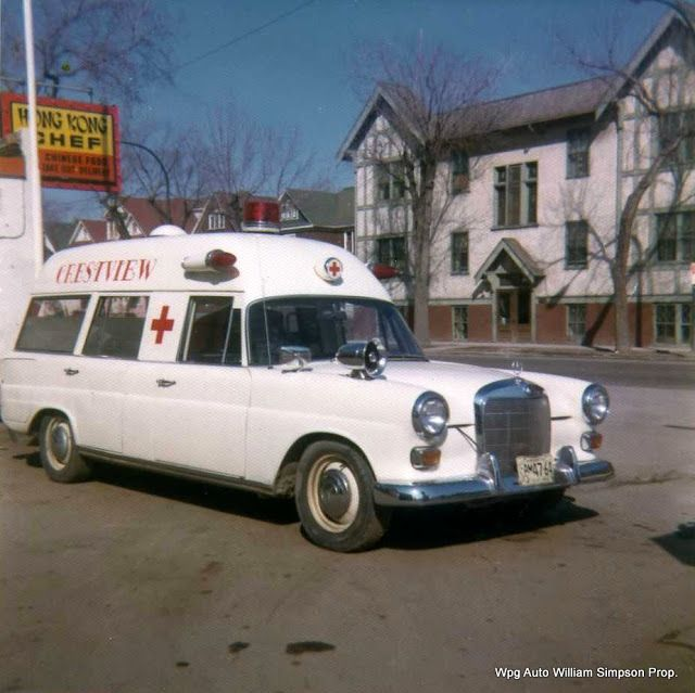 1969 white canadian mercedes benz ambulance vintage for Mercedes benz emergency