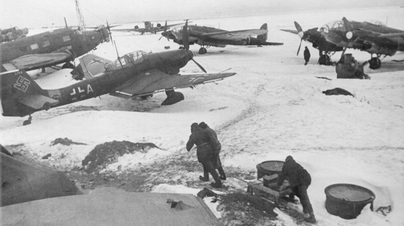Image result for WW2 german airfield stalingrad