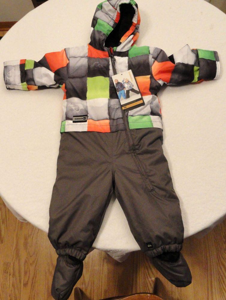 be41040dbe26 NWT Quiksilver Little Rookie Baby Suit One Piece Snowsuit SZ 18 ...
