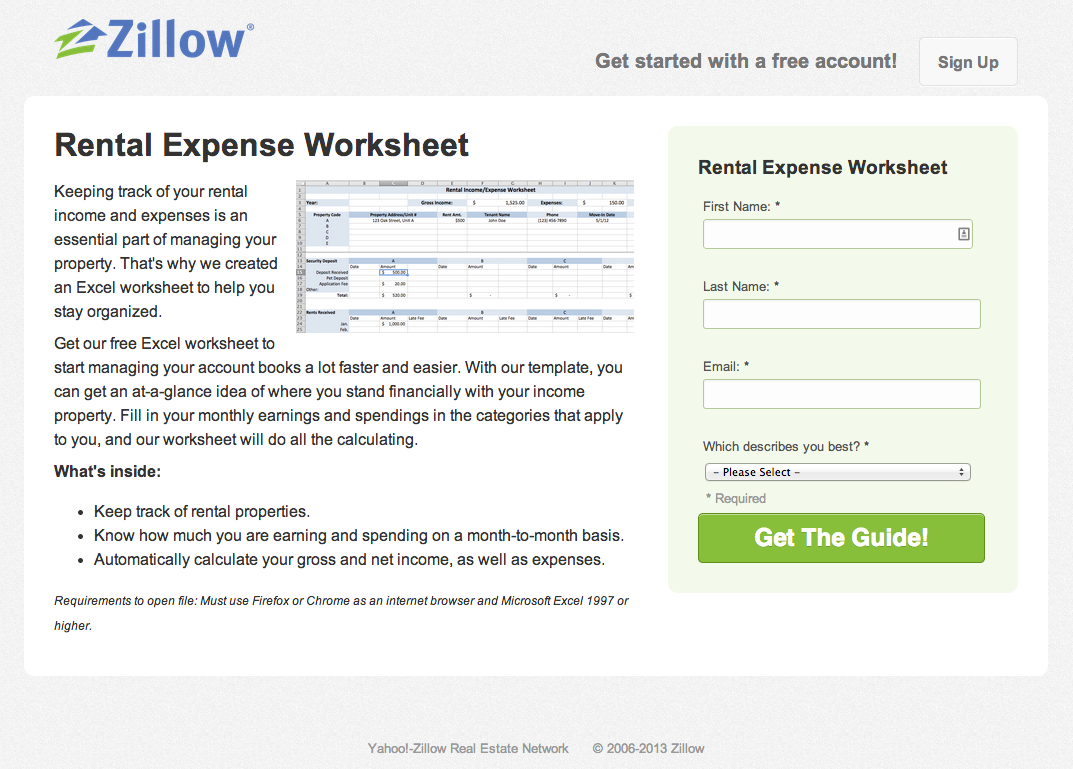 Rental Income And Expense Worksheet