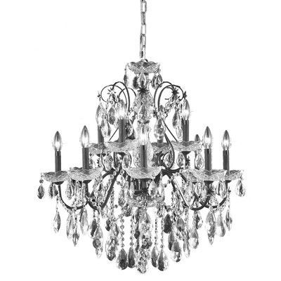 Elegant Lighting St Francis 12 Light Crystal Chandelier Grade Spectra Swarovski