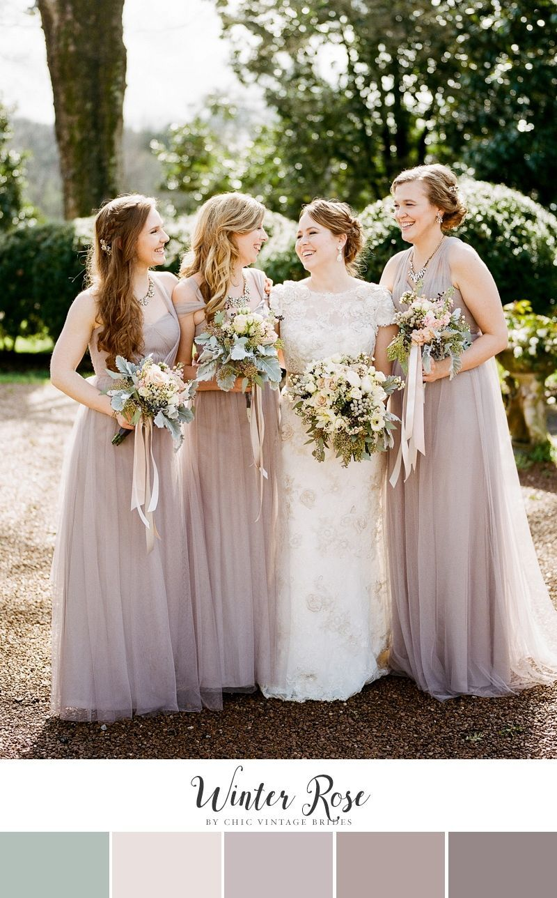 Winter Rose Feminine Wedding Color Palette