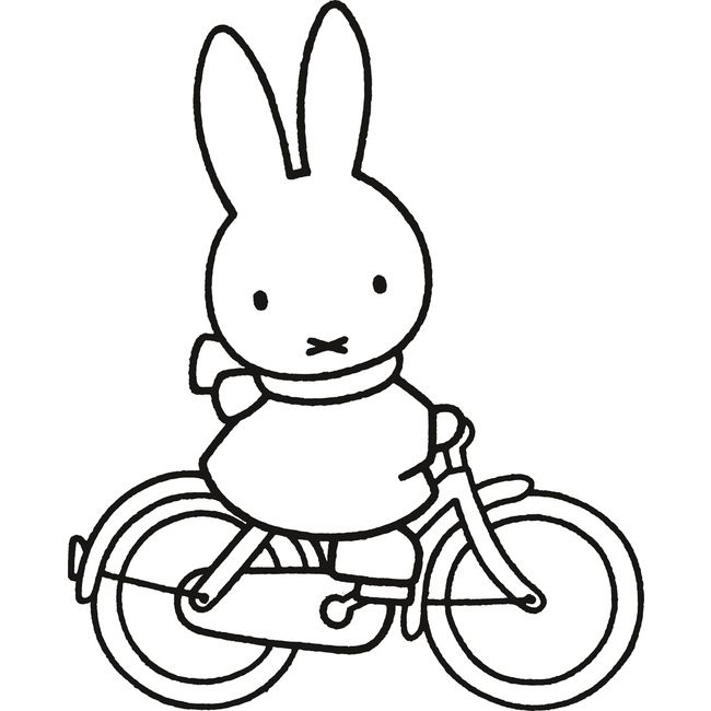 Miffy Bicycle | Miffy Coloring Pages | Pinterest | Bicycling, Doodle ...