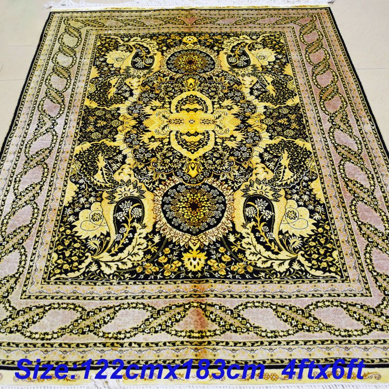 Mingxin Carpet 4x6 Feet Japan Carpet Yellow Design Hand Made Silk Rugs For Living Room Home Sofa Carpet Affiliate Silk Rug Rugs In Living Room Home Textile