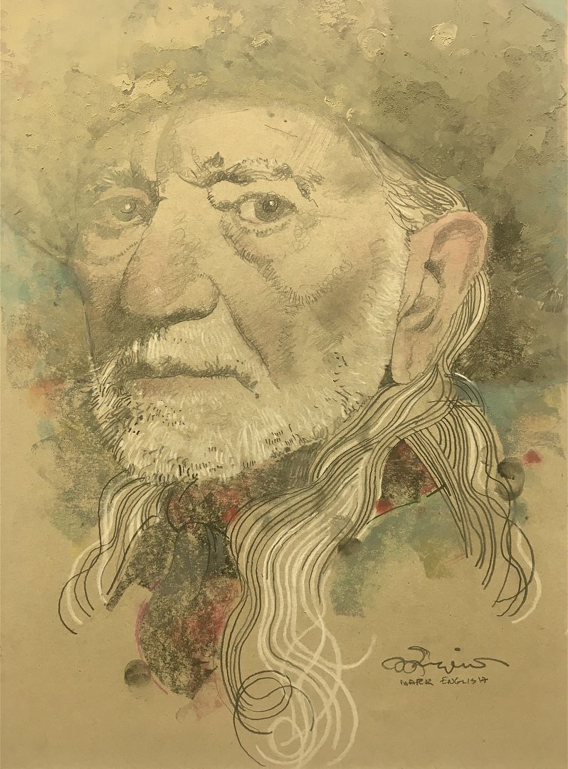 Mark English Portrait Of Willie Nelson Life Drawing Illustration Art Illustrators