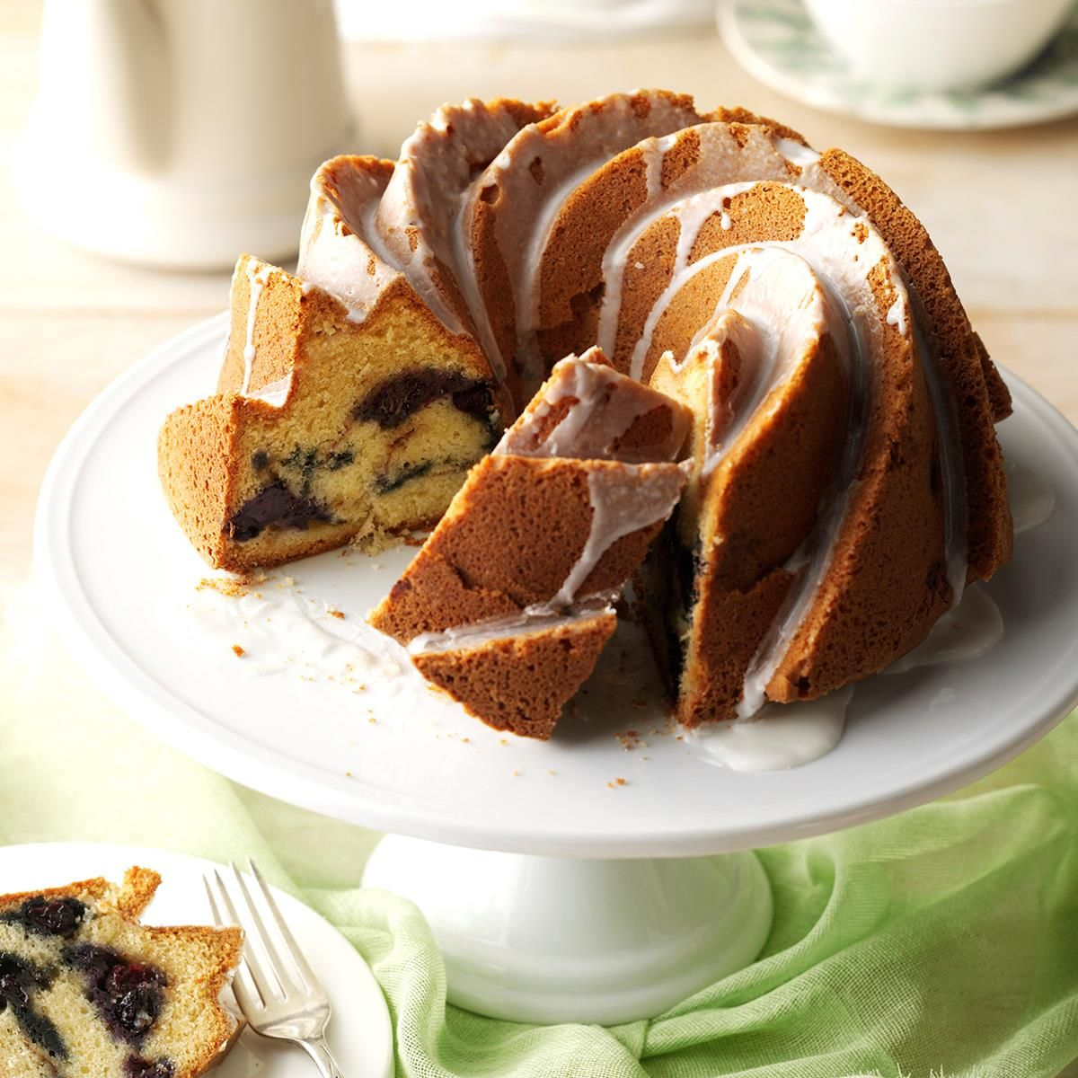 Blueberry Sour Cream Coffee Cake Recipe (With images